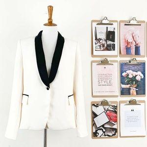 Victoria's Secret Tuxedo Blazer Jacket 10 Ivory